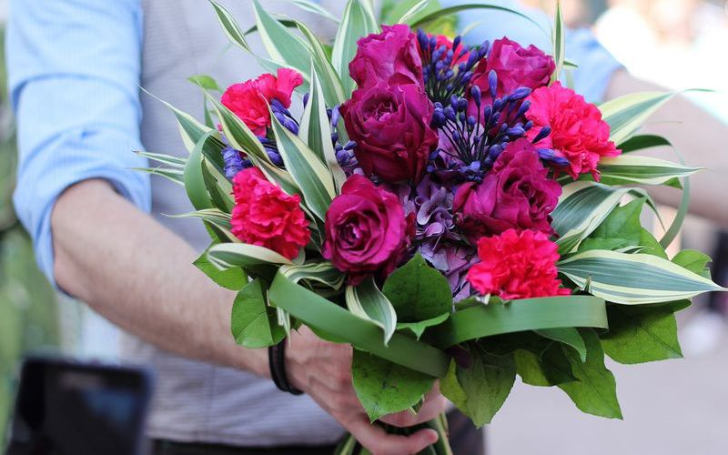 Вручение цветов