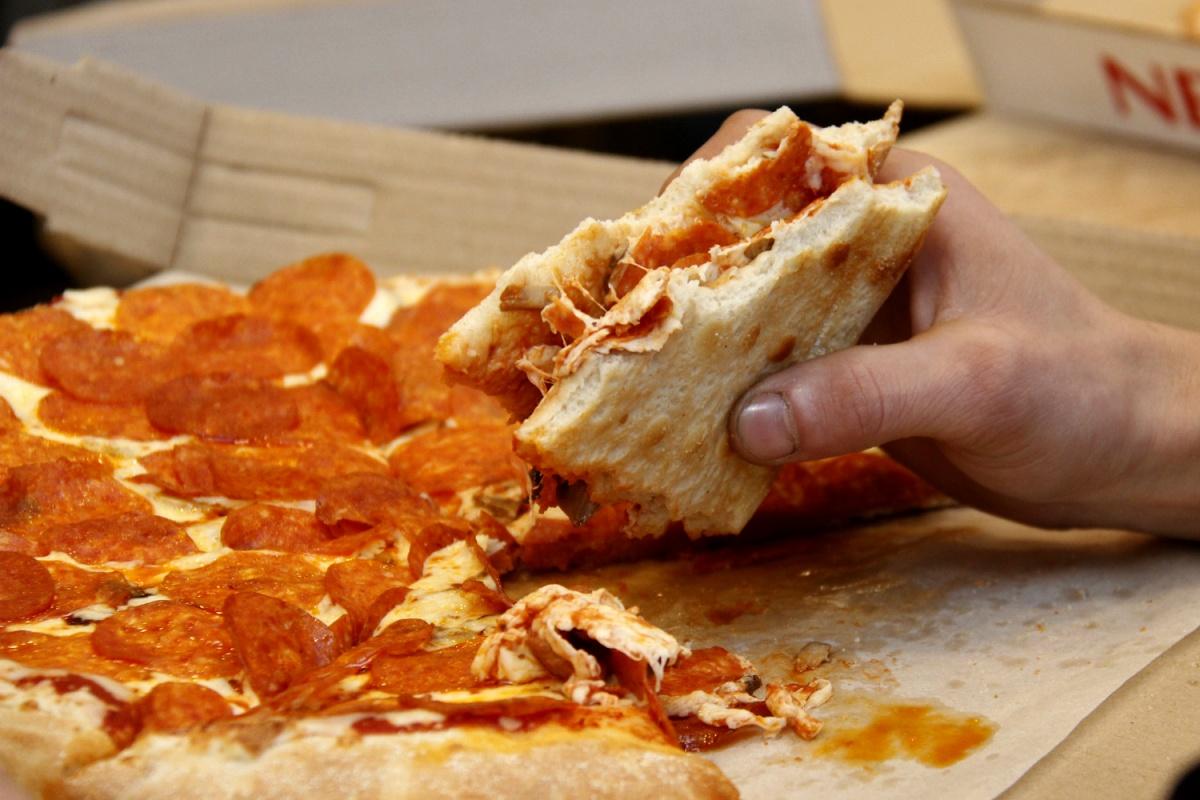 Свернутая пицца